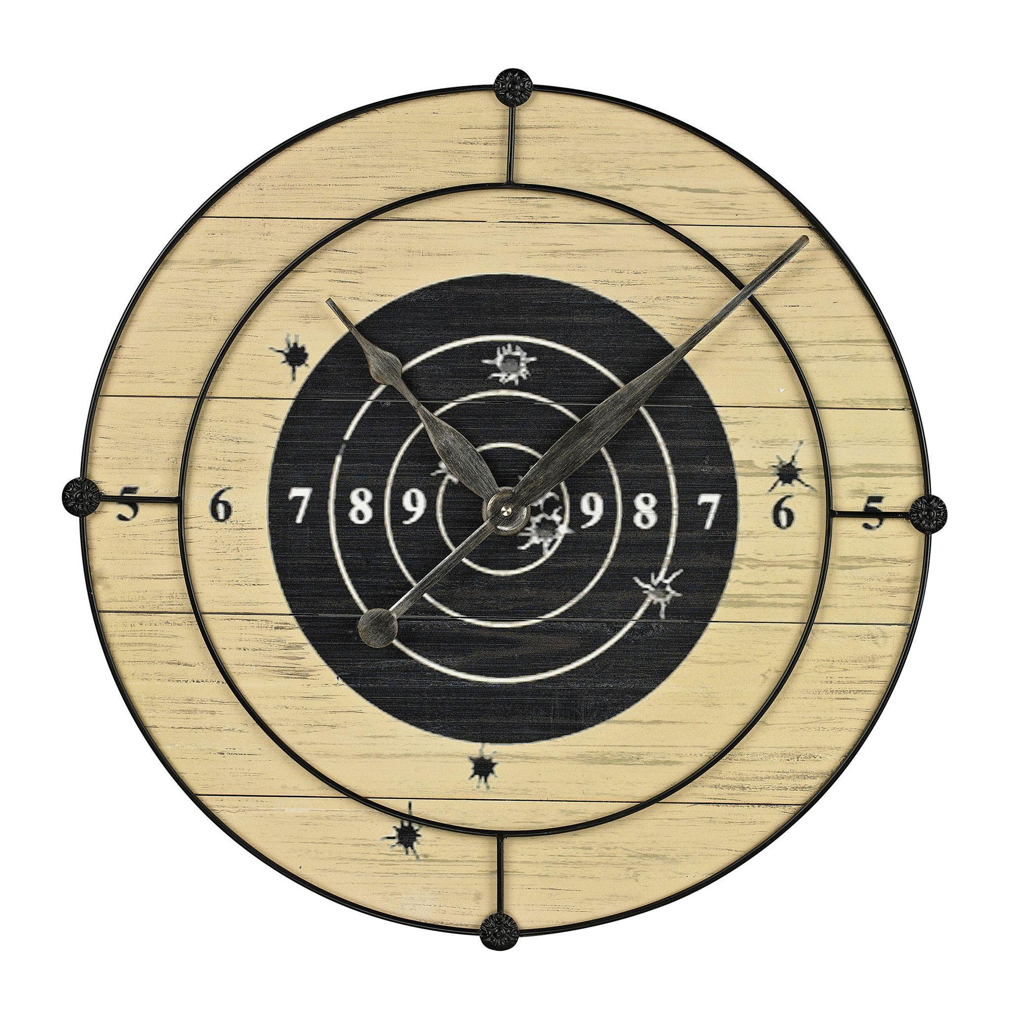 Target Practice Wall Clock | Target practice, Wall clocks and Target