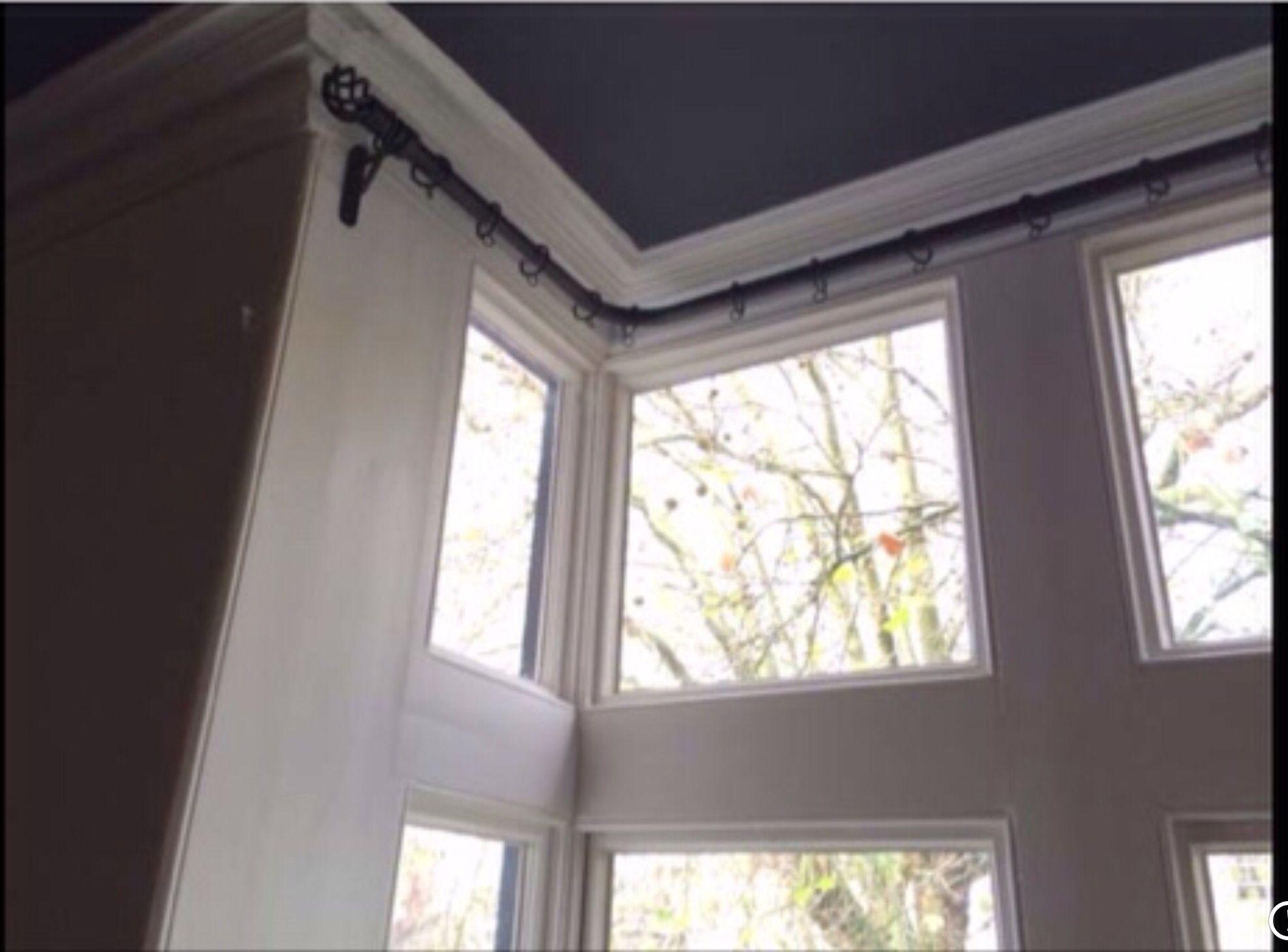 medium resolution of curtain pole for box bay window only three brackets