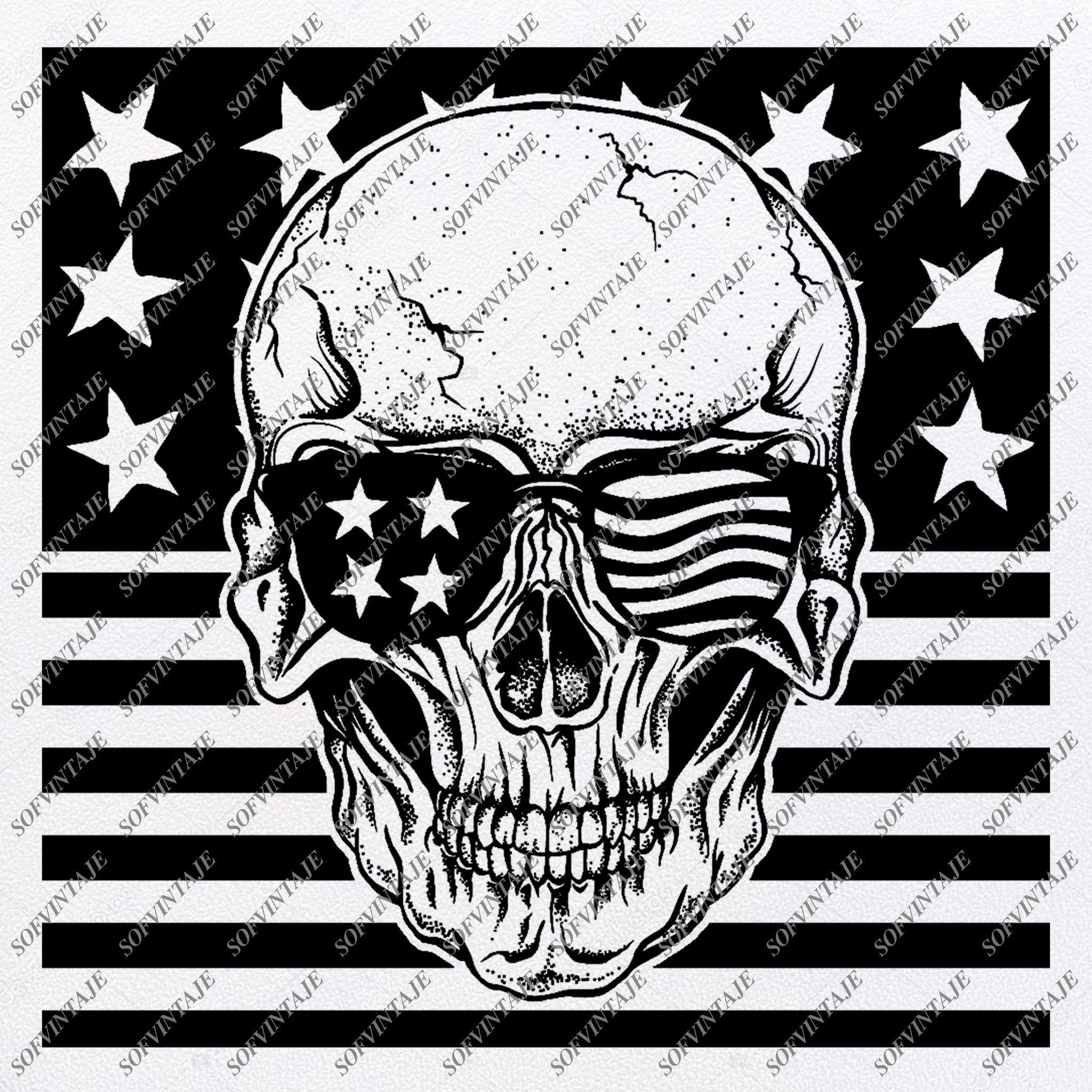 Unique Distressed American Flag Silhouette Design » Free Vector Art,  Images, Graphics & Clipart