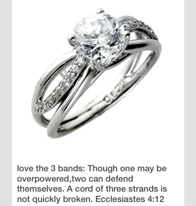 chord of three strands ring | Bling it On! | Pinterest | Wedding and ...