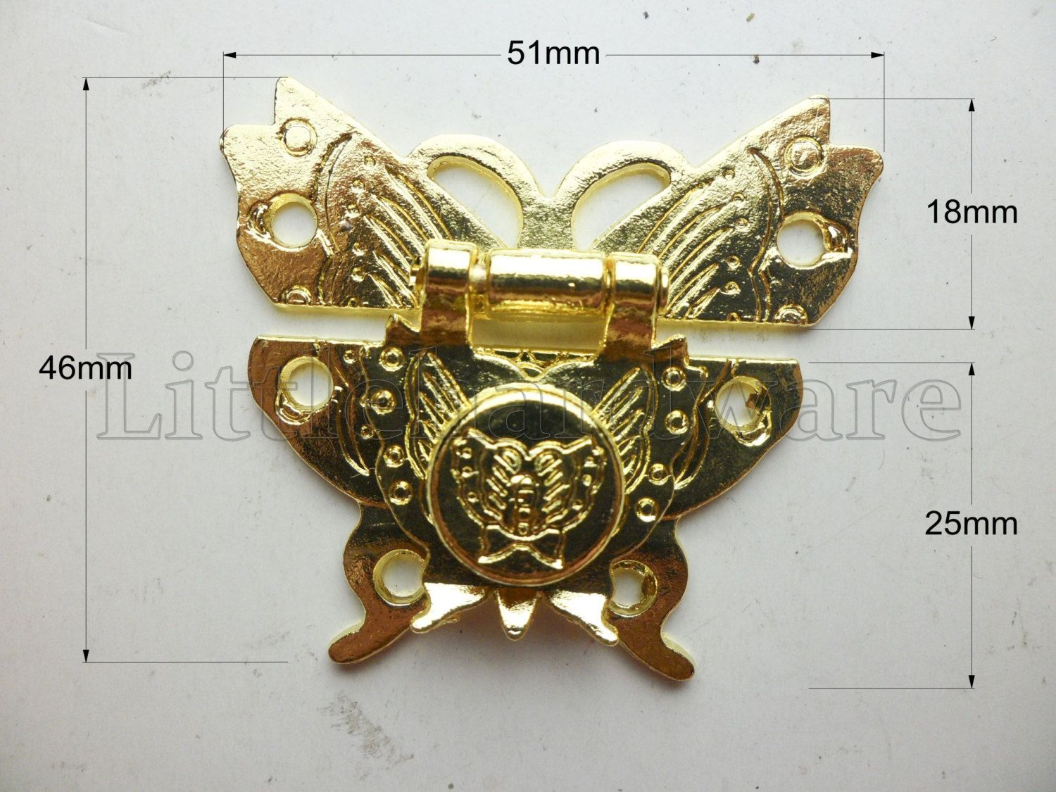 High quality golden butterfly lock latch small box hardware