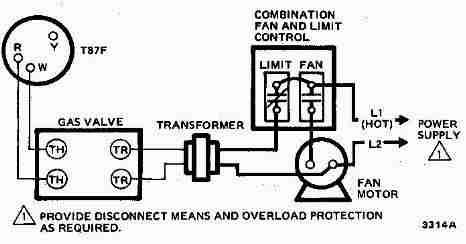 honeywell t87f thermostat wiring diagram for 2 wire spst control of rh pinterest com honeywell t87f thermostat wiring