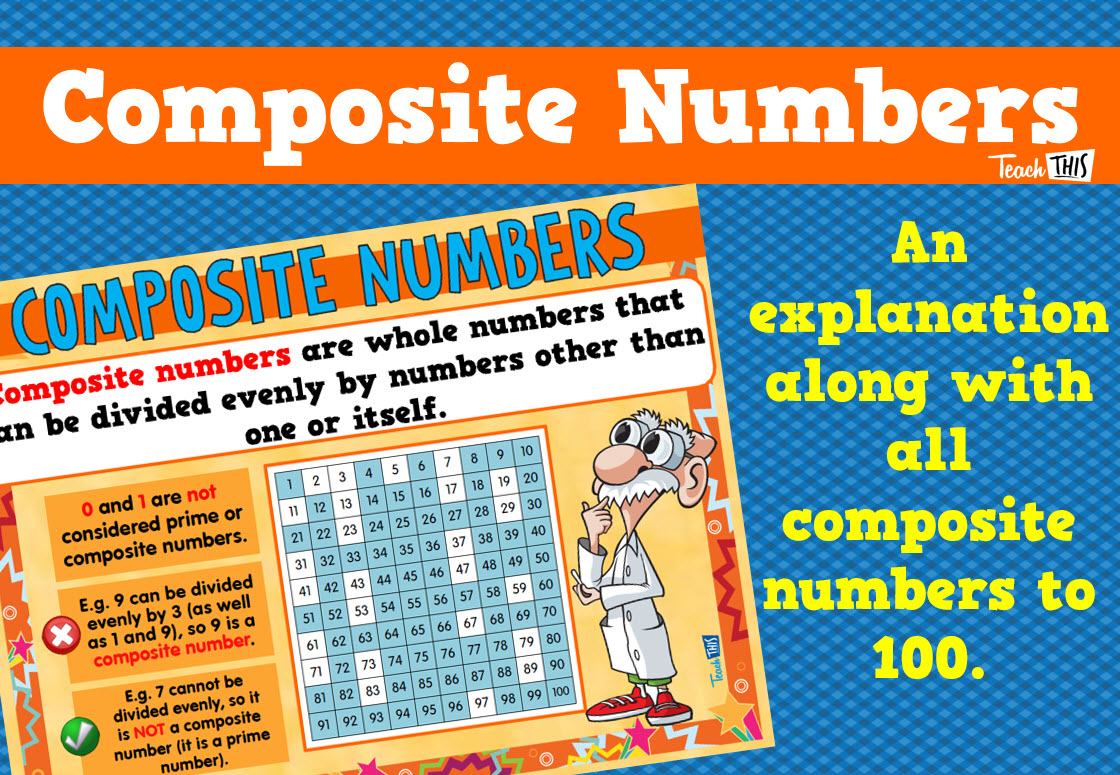 Composite Numbers Poster | Number & Place Value | Pinterest ...