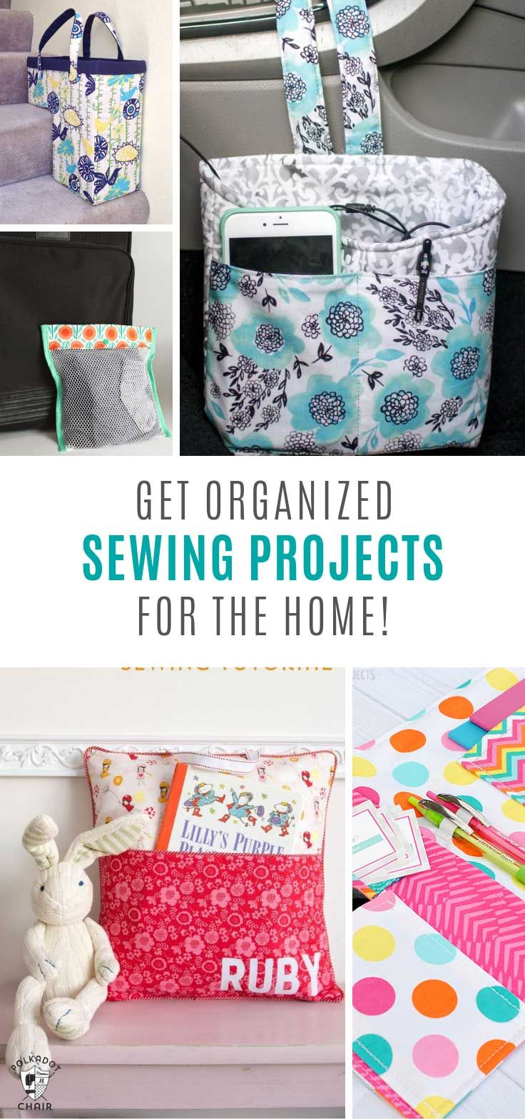 15 Awesome Sewing Projects to Make You an Organization Genius! #beginnersewingprojects