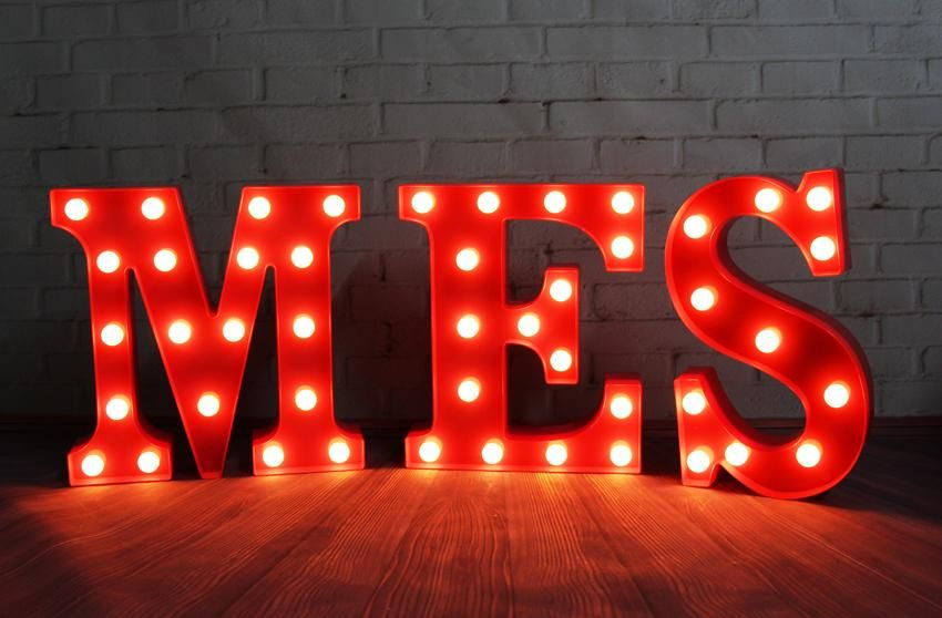 Various Lovely 12inch Letters Led Marquee Sign Light Up Vintage Alphabet Plastic Letter Holiday Indoor