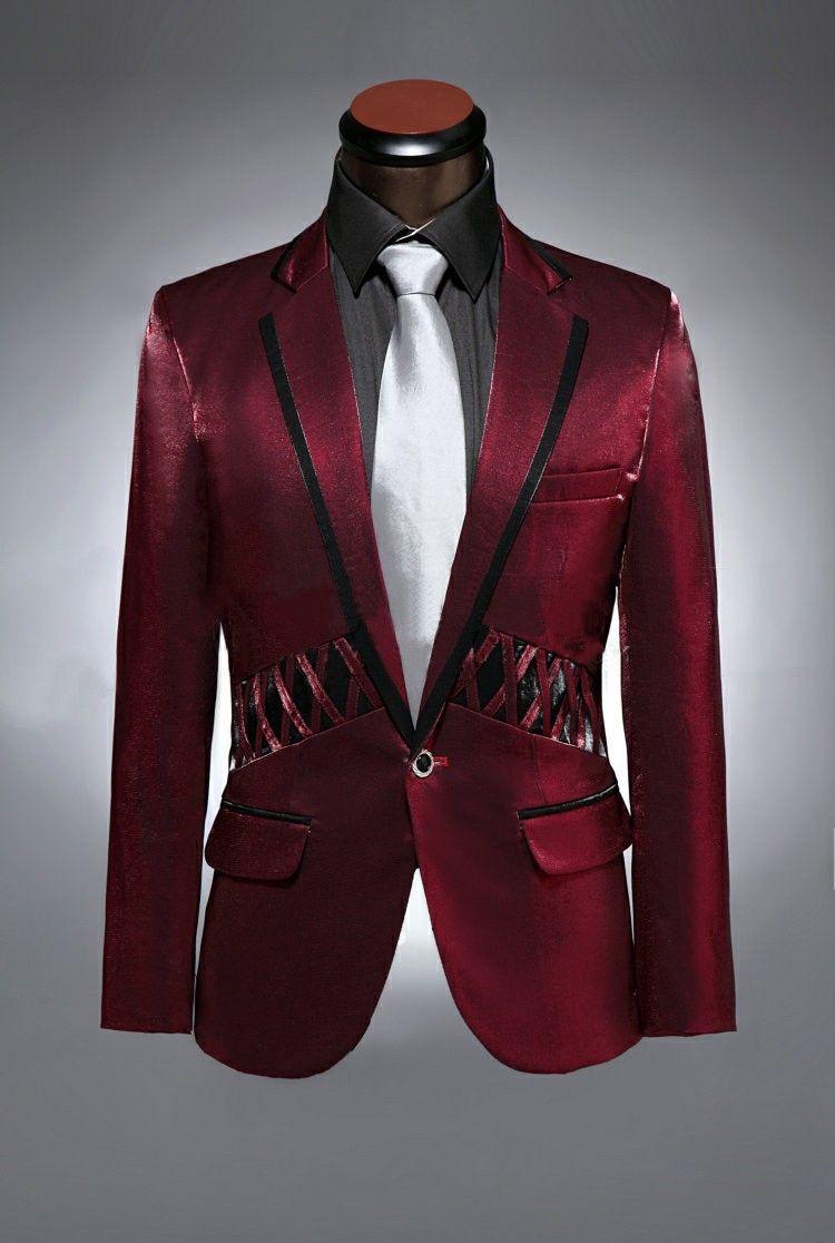 Burgundy velvet tuxedo jacket slim fit black peaked
