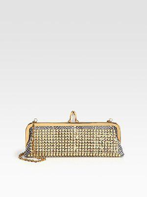 37533a6597e Christian Louboutin - Miss Loubi Studded Python Clutch - Saks.com ...