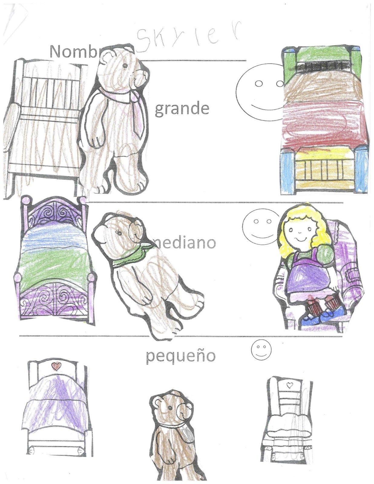 Spanish Simply Goldilocks And The Three Bears In Spanish