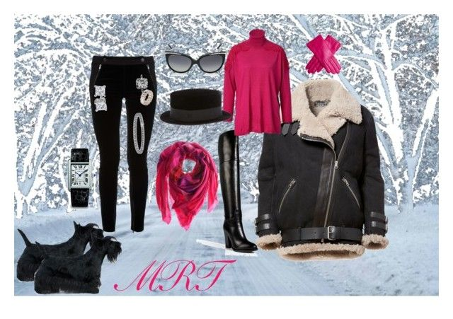 Winter weather by meesh57 on Polyvore featuring Valentino, STELLA McCARTNEY, Ralph Lauren Collection, Cartier, Blue Nile, Avant Toi, Maison Michel and Bulgari