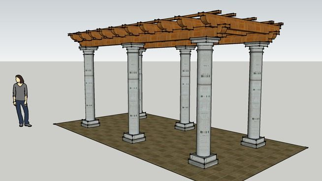 pergola pilar beton bulat 3d warehouse rsketch 3d warehouse pinterest pergolas. Black Bedroom Furniture Sets. Home Design Ideas