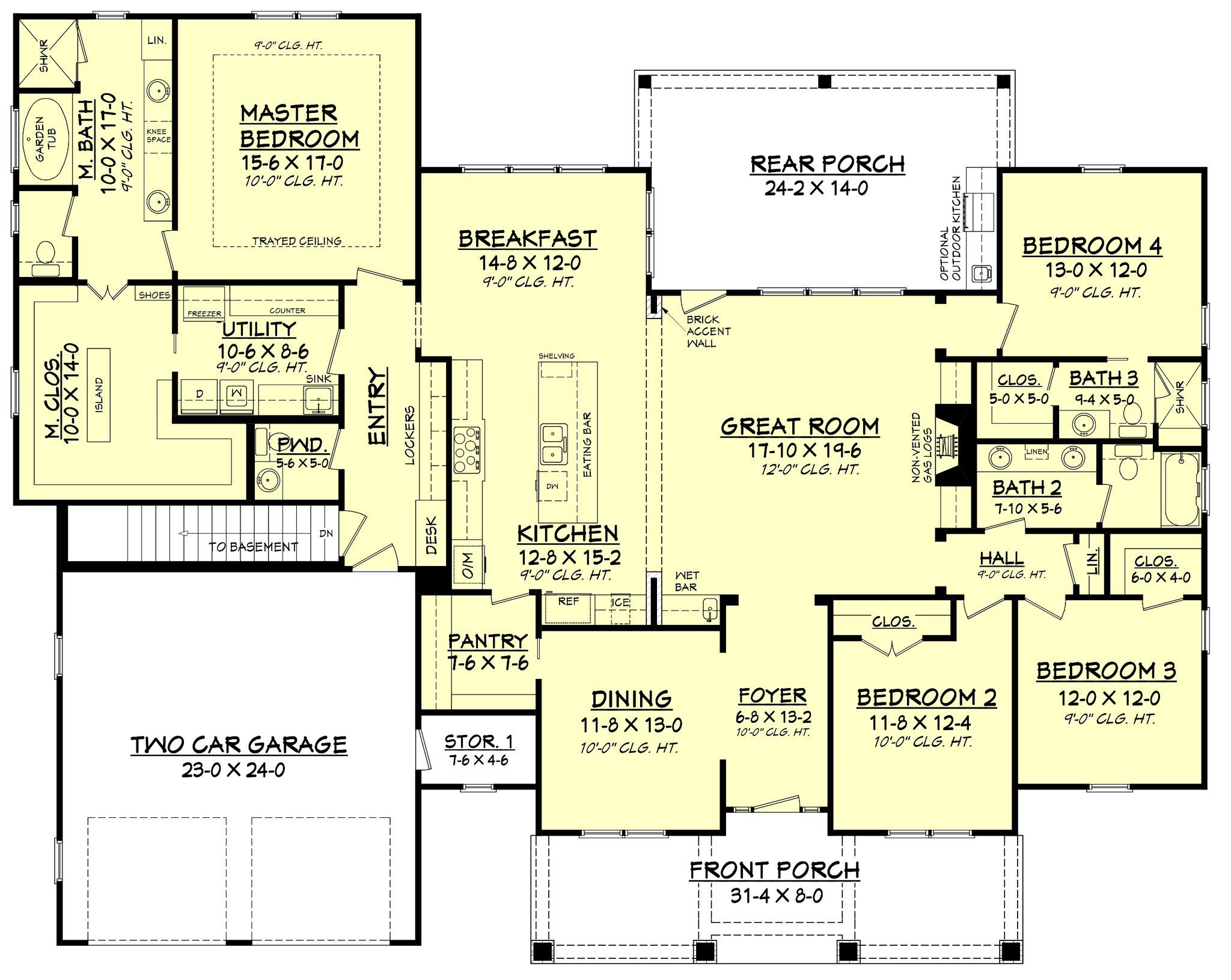 Frontier Lane House Plan | Craftsman style houses, Craftsman style ...