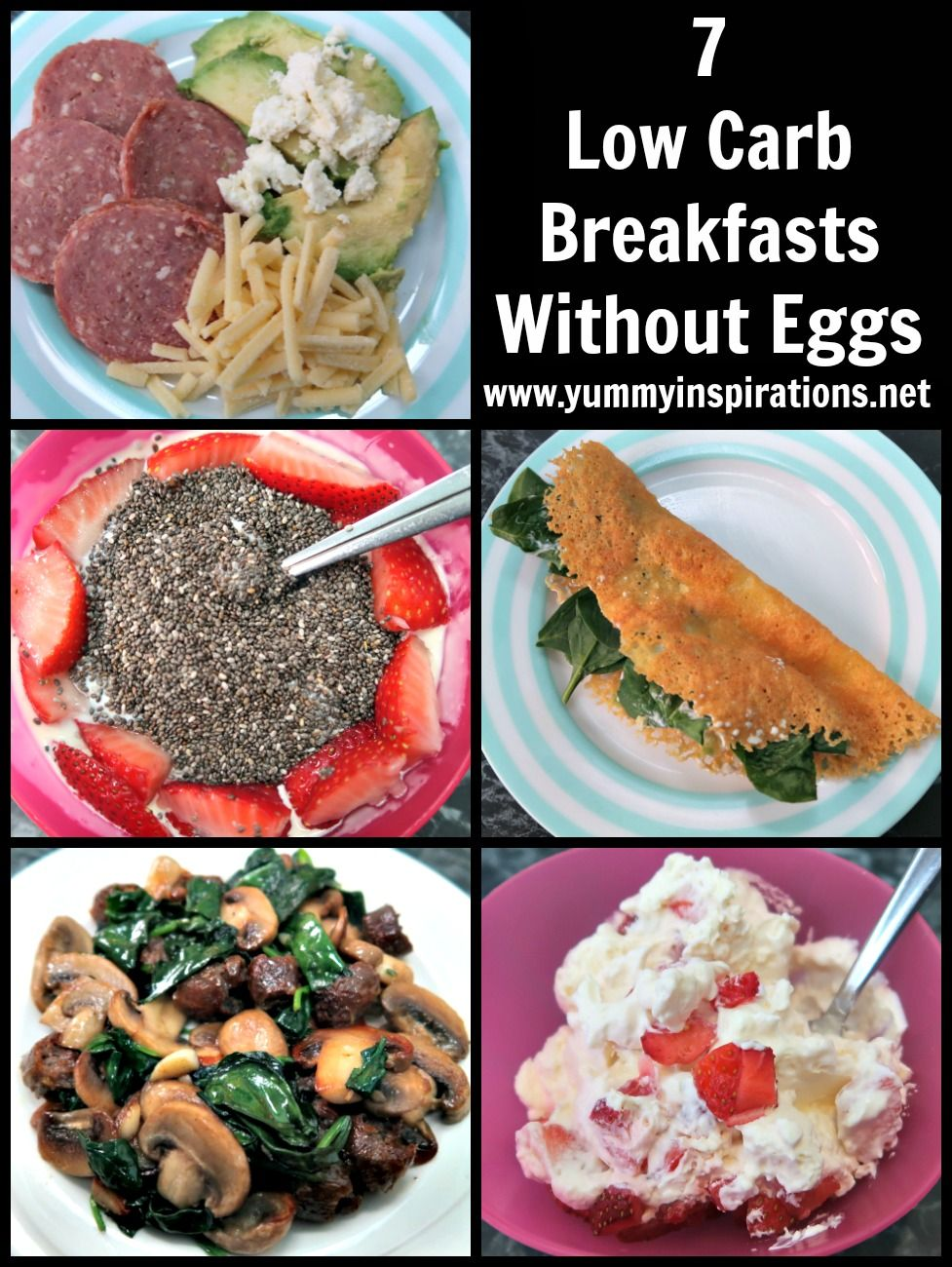 7 Low Carb Breakfast Without Eggs Easy Keto Breakfasts With No Eggs Low Carb Breakfast Recipes Low Carb Breakfast Keto Breakfast Smoothie
