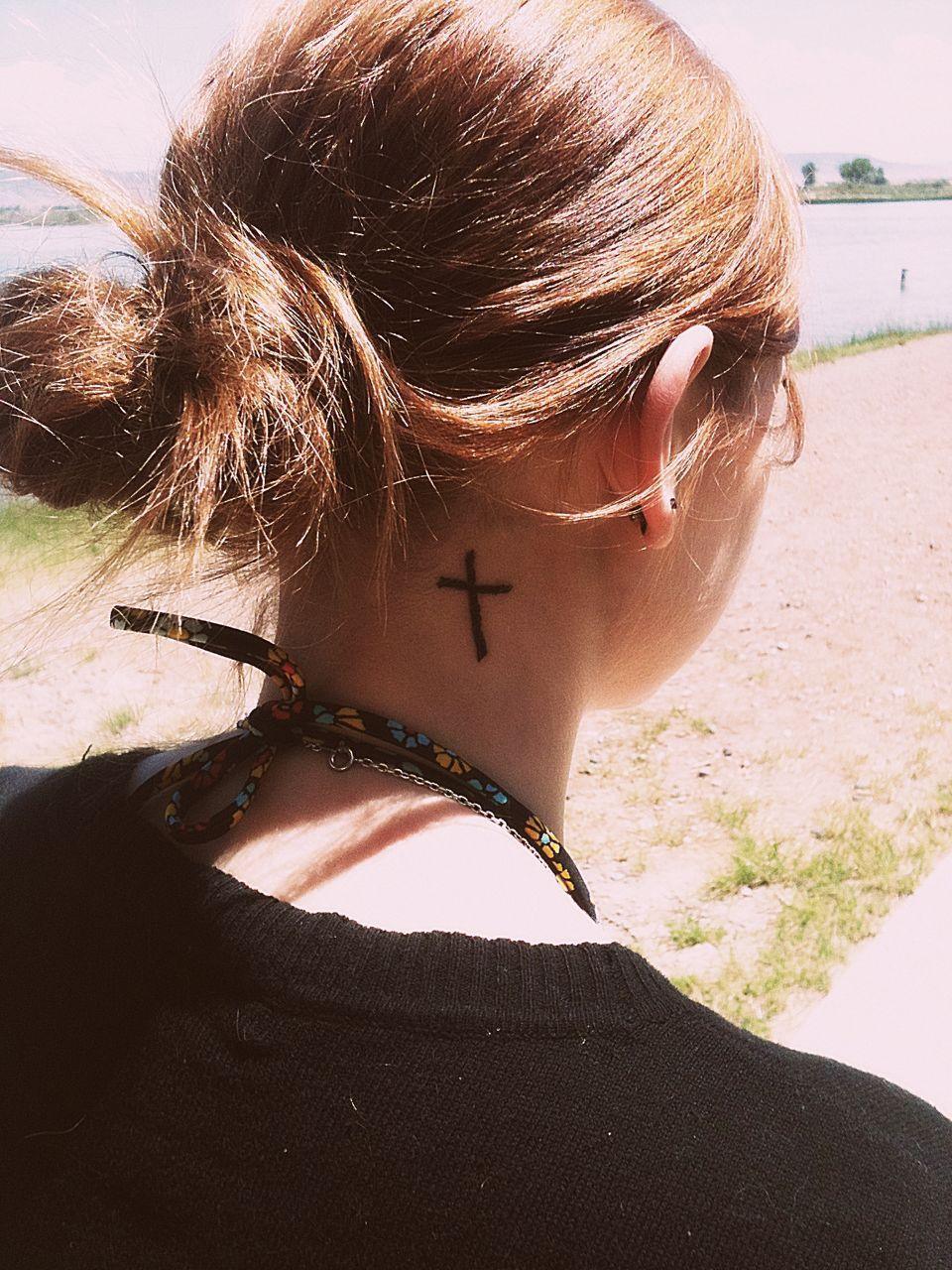 Cross tattoo accessories pinterest tattoo piercings and tatting