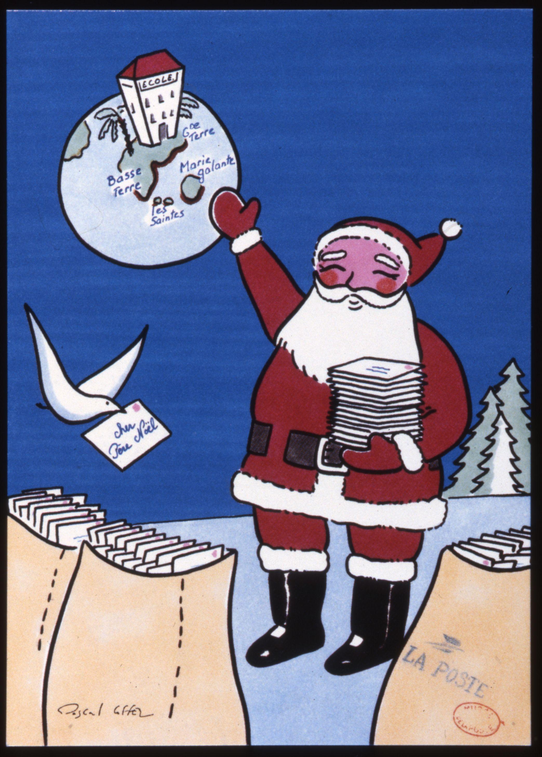 Carte postale père Noël 1989 © L'Adresse Musée de La Poste / La Poste, DR | Kids rugs, Kids, Decor