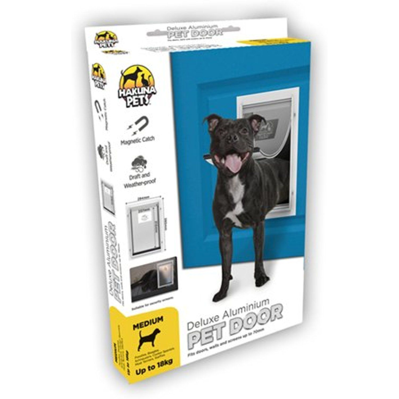 Hakuna Pets Deluxe Aluminium Pet Door Medium For More