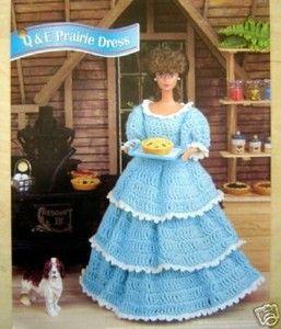 Free Fashion Doll Crochet Patterns, download | Crochet Fashion Doll Pattern Ruffled Prairie Dress | eBay