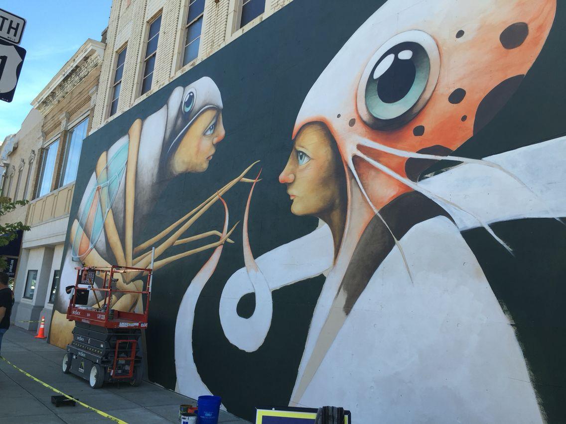 Thirty three Art, Street art, Pluto the dog