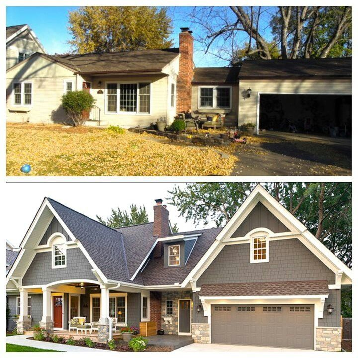 Low rise bungalow before and after exterior home for Before and after exterior home makeovers