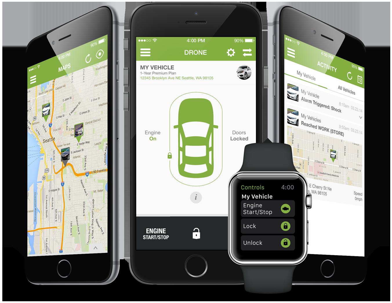 DroneMobile Smartphone Remote Start, Security