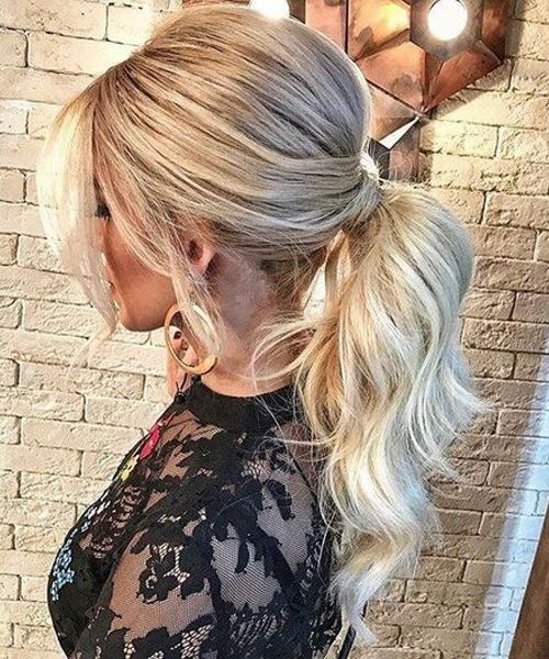 Irresistible High Pony Long Prom Hairstyles 2019 to Look Perfect | Trendy Hairstyles #ponytailhairstyles