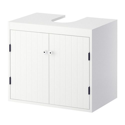 Silver 197 N Wash Basin Base Cabinet W 2 Doors White Ikea