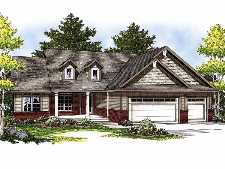 Traditional Style House Plan 3 Beds 2 Baths 1664 Sq Ft Plan 70 826 Affordable House Plans