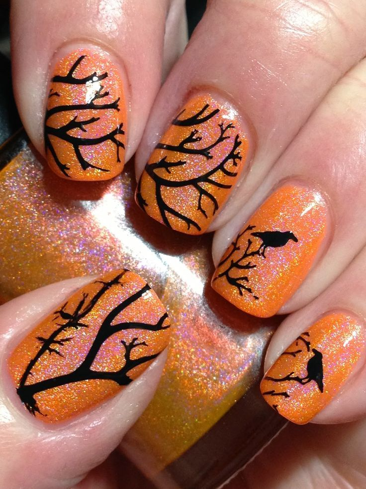 Top 17 New Halloween Nail Designs Easy Famous Home Manicure Fashion Trend Easy Idea 14 Halloween Nail Designs Halloween Nails Halloween Nail Art