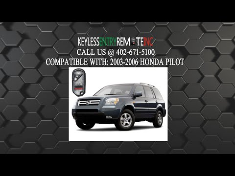How To Change A 2003 2007 Honda Pilot Key Fob Remote Battery
