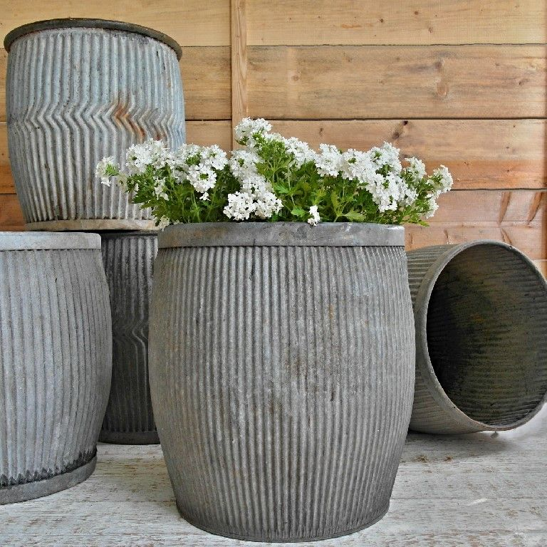 Footed Tub Metal Planter.Antique Classic Look