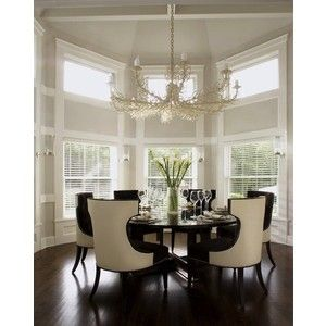 Dining Rooms  Gray Walls Ivory Seafan Chandelier Glossy Espresso Amusing Ivory Dining Room Set Review