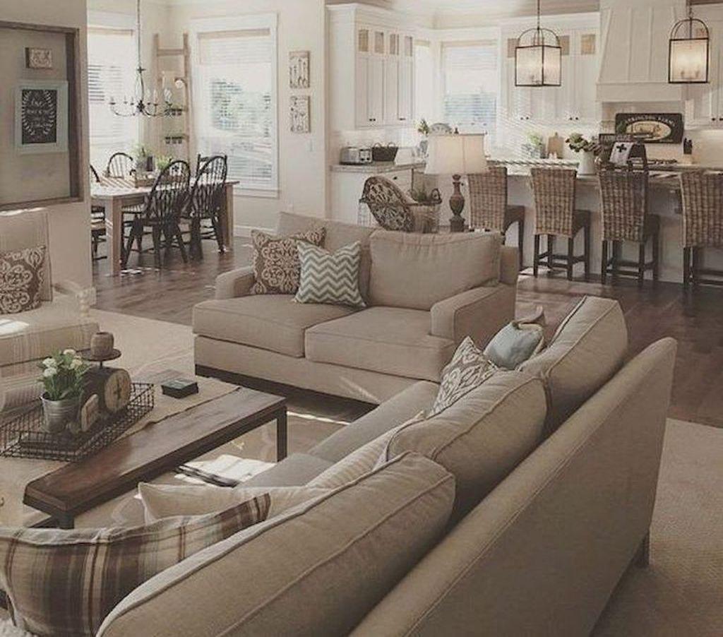 43 Gorgeous Farmhouse Living Room Design Ideas images