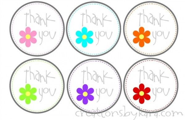 Trust image with free printable thank you tags