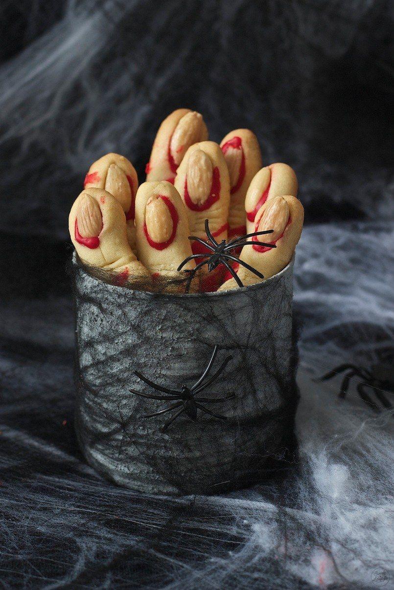 Hexenfinger aus Mürbteig Rezept Mürbteig, Halloween
