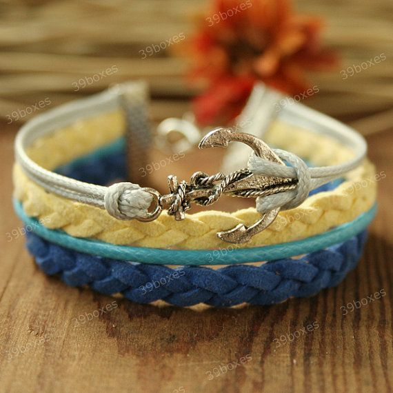 Girls Bracelet  anchor bracelet rainbow anchor bracelet by 39boxes, $7.99