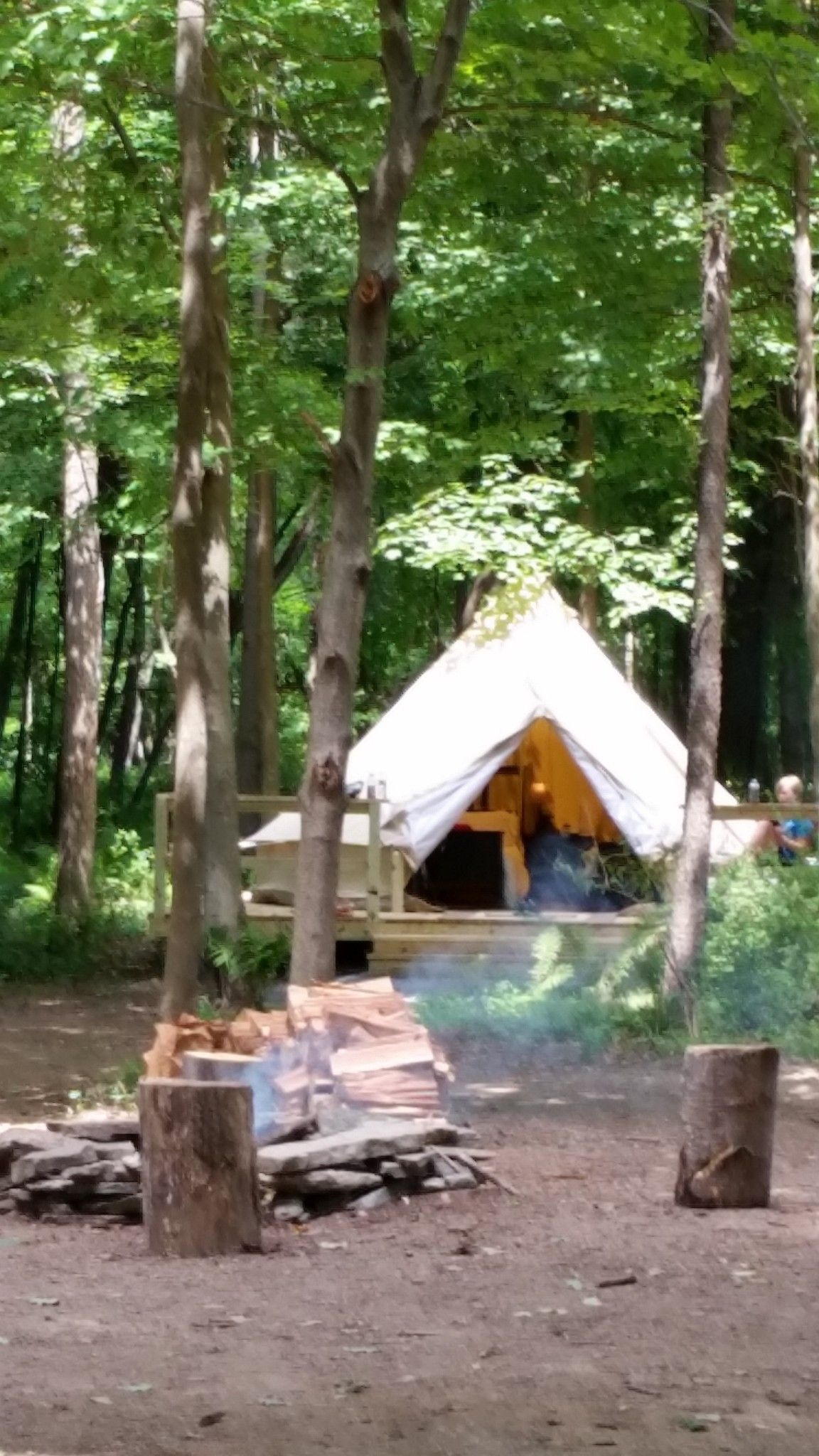 Shawnee Island Gl&ing - Pennsylvania USA - #gl&ing in bell tents on the Delaware & Shawnee Island Glamping - Pennsylvania USA - #glamping in bell ...