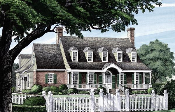 Traditional Style House Plan 86297 With 4 Bed 4 Bath 2 Car Garage Colonial House Plans House Plans Farmhouse House Plans