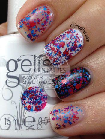 Gelish Trends - Let Me Top You Off #Gelish #SOG #nailpolish #gelpolish #glitter #nails