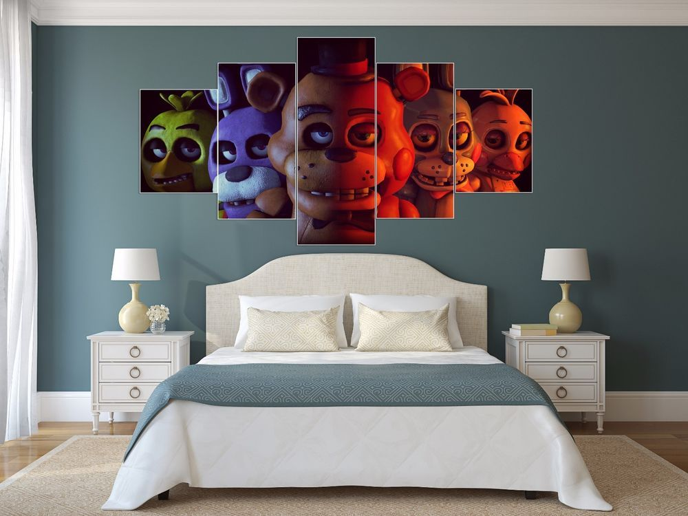 Five Nights At Freddy S Wall Art Five Nights At Freddy S Bedroom Decor Decor