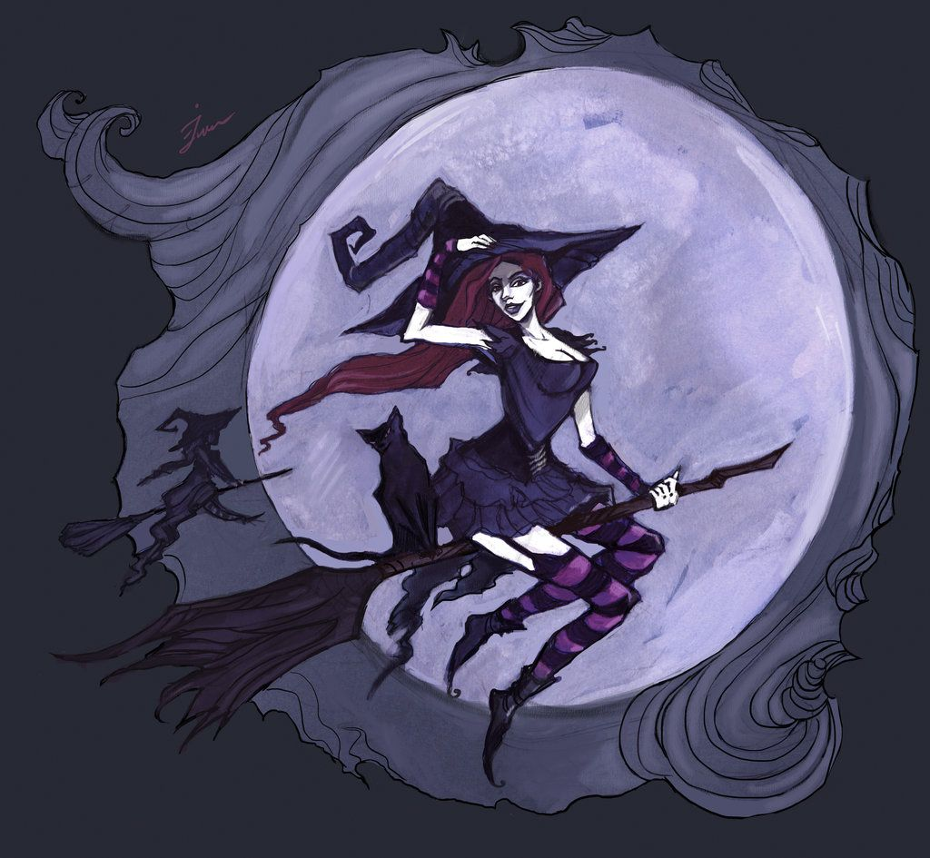 Flying witches by IrenHorrors.deviantart.com on @deviantART