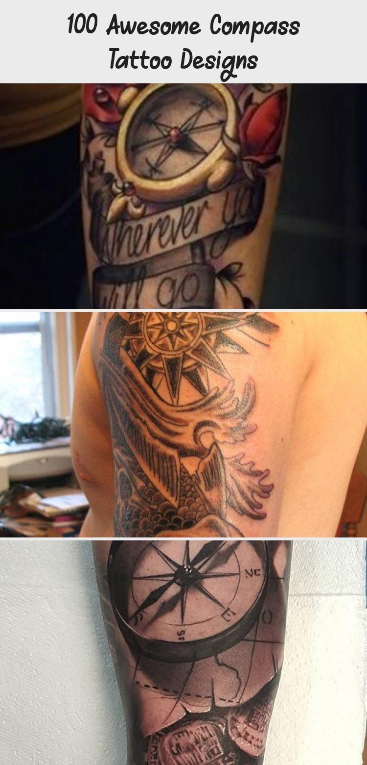 Photo of Tatouage dos aquarelle boussole pour femmes – 100 Awesome Compass Tattoo Designs   ™ …
