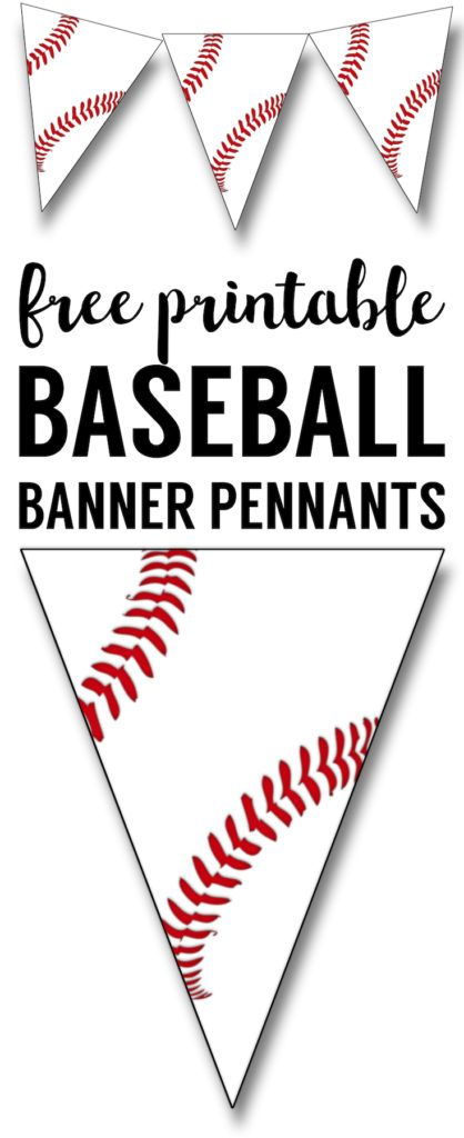 Photo of Free Printable Baseball Banner {baseball party decorations} | Paper Trail Design