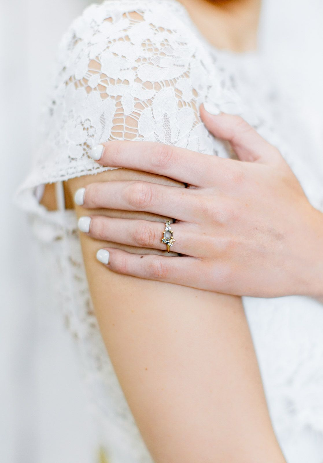 Custom Jewelry Bohemian Wedding Inspiration Cluster Ring