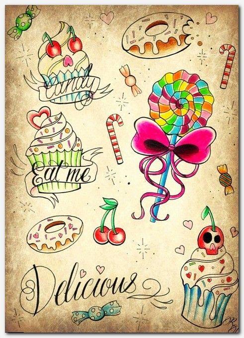Small Tattoo Cupcake Tattoos Candy Tattoo Sweet Tattoos