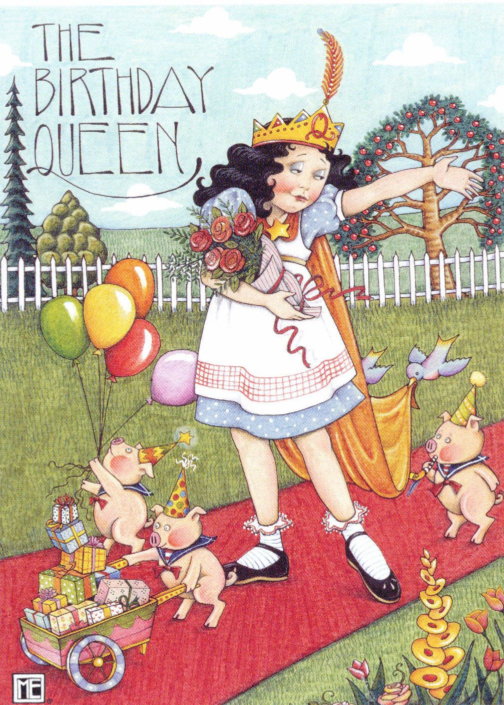 Mary Engelbreit The Birthday Queen Three Little Pigs Roses Birthday