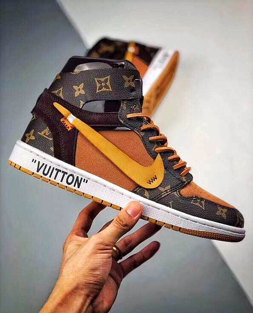 finest selection 41d93 b0a31 Off White X Air Jordan X Louis Vuitton Inspired Special Edition Sneakers