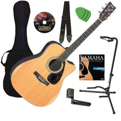 Yamaha Fx370c Guitar Bundle W Gig Bag Strap Stand Dvd By Yamaha 249 99 Yamaha Acoustic Electric Guitar Bund Acoustic Guitar Guitar Guitar For Beginners