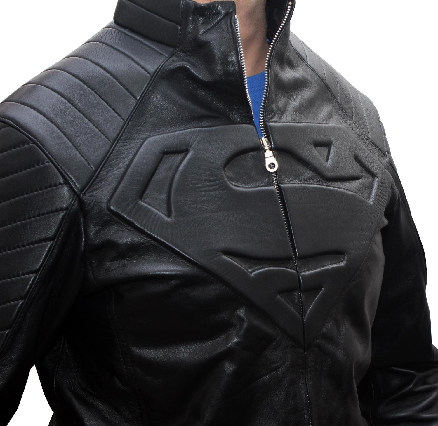 Mens Super Black Leather Jacket XS (With images) Leather