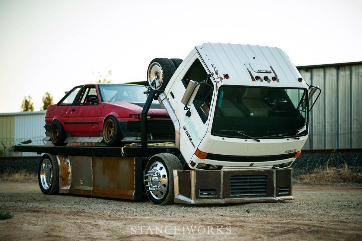 The Baller Hauler Miles Shinneman S 1993 Isuzu Npr Transporter Datsun Pickup Mini Trucks Truck Design