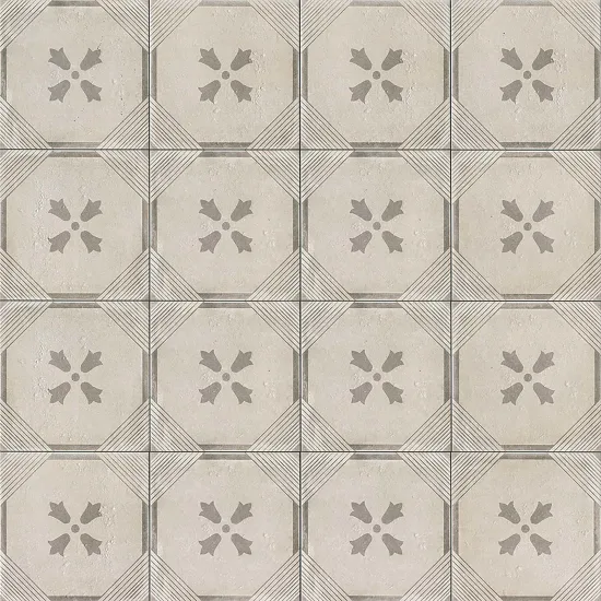 Palazzo 12 X 12 Decorative Tile In Vintage Grey Bloom Decorative Tile Elegant Tiles Encaustic Tile