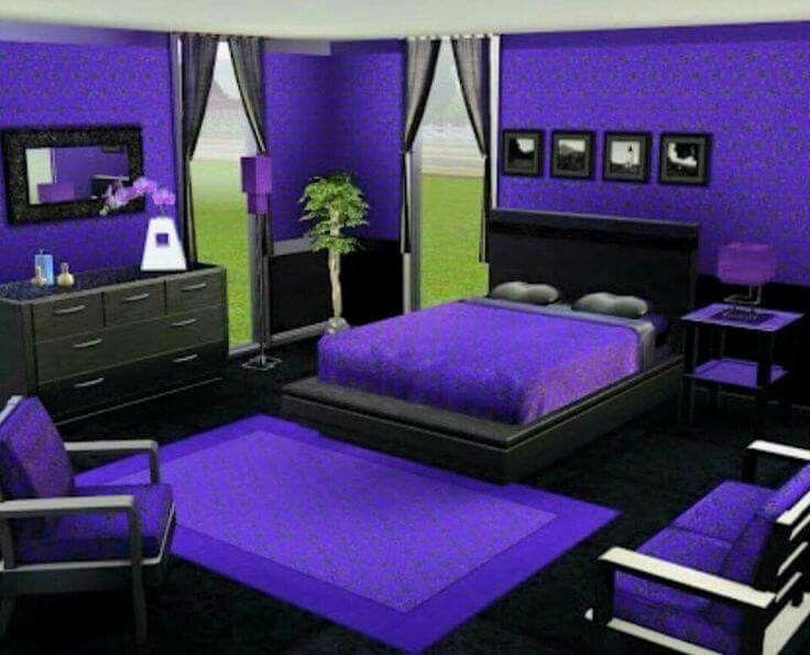 Pin By Sharon Harenda On Purple At Heart Purple Bedrooms